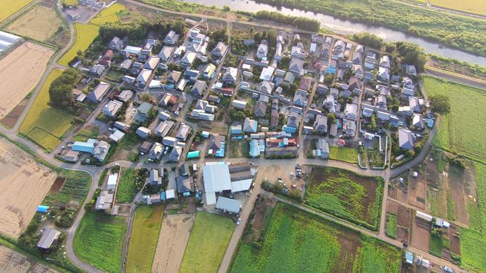 田園地帯の集落:つくば市